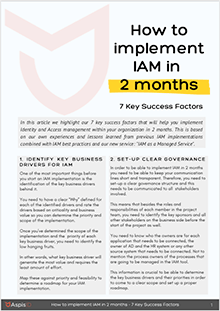 How to implement IAM in 2 months